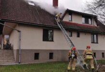 Incendiu la o locuință din Peștere din cauza coșului de fum