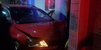 Accident pe trotuar