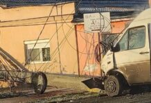 Accident pe raza localității Sântion