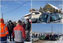 Protest cu claxoane în Aleșd