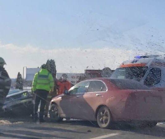 Accident între Lugașu de Jos și Aleșd