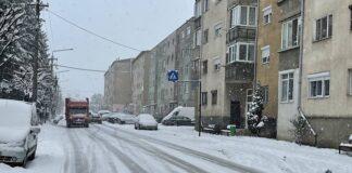 Zăpada in Aleșd