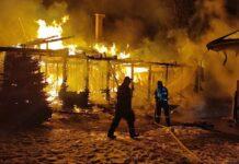 Incendiu cabană Vârciorog