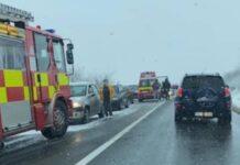 Accident între localitățile Lugașu de Jos și Urvind