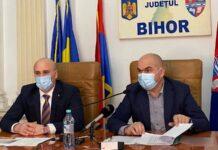 Președintele Consiliului Județenean, Ilie Bolojan, și de prefectul Dumitru Țiplea