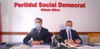 Consilierul municipal al PSD, Adrian Madar, şi consilierul judeţean, Felix Cozma