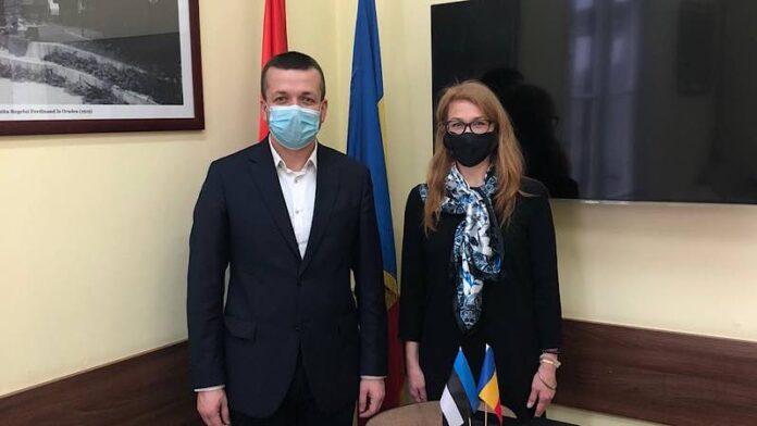 Primarul Florin Birta și E.S. Dna. Ingrid Kressel Vinciguerra