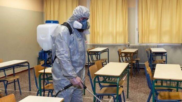 Dezinfectare clasă de școală