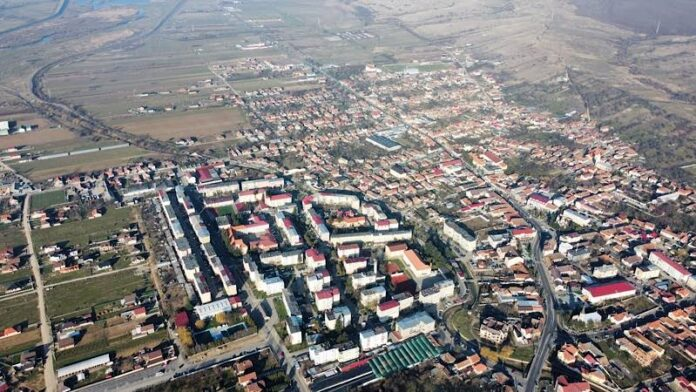 Orașul Aleșd din drona