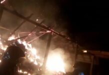 Incendiu violent în localitatea Șerghiș, comuna Vârciorog