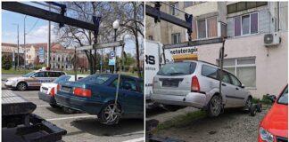 Mașini fără stăpân ridicate de pe domeniul public