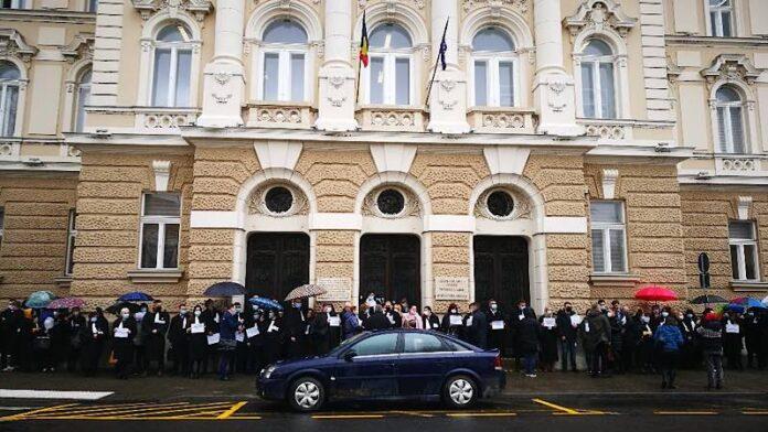 Protestul avocaților din Bihor