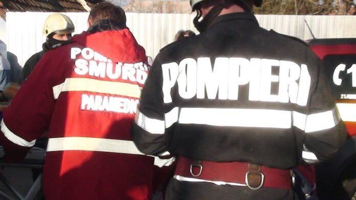 Pompieri încediu