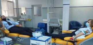 Donare de sânge pompieri
