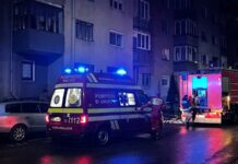 Incendiu la un bloc din Aleșd