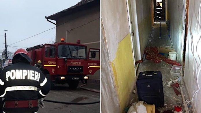 explozie într-un bloc din Ștei