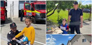 Copiii au fost sărbătoriți de pompierii aleșdeni