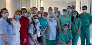 Echipa de terapie intensivă a Spitalului Pelican din Oradea