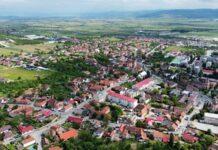 Orașul Aleșd din dronă