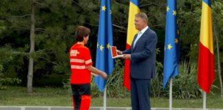 dr. Abrudan Ana și președintele Klaus Iohannis