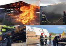 Incendiu fabrică de mobilă Popești